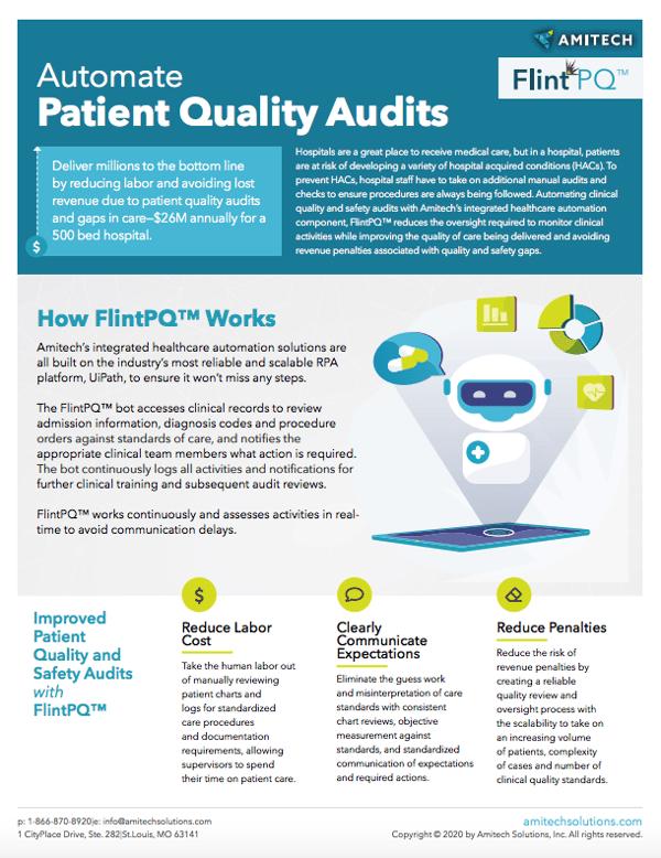 automate patient quality audits